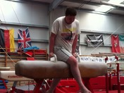 Reporter Hywell Barratt at Olympic Gym