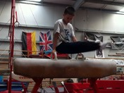 Gymnast Owen Harrison at Olympic Gym