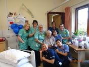 Seaton Hospital Staff help Herbert William George Palfrey celebrate his 100th bi