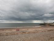 Rain storm at sea, Dawlish Warren beach