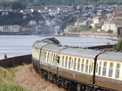 Brittania Steam locomotive passing through Dawlish Warren