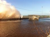 High tide brings big waves
