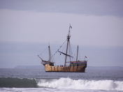 Galleon spotted off Woolacombe beach