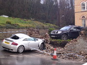 car crash at atlantic and kingsley road in westward ho ! early sunday morning on