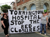 Protest against Torrington Hospital bed closures