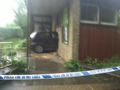 Car Crashes Into a Wall in Stevenage
