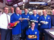 Dinners for Winners: Hermitage Sheet Metal Ltd receiving lunch from the Comet