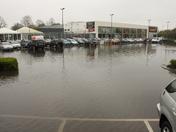 Flooded carpark