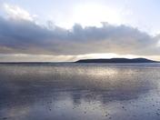 An evening walk on the beach.