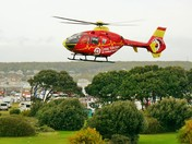 Weston Air Ambulance to the rescue.