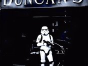 Storm Trooper out Side Duncan's Barbers Worle