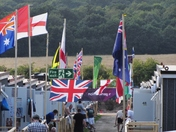 Flag Alley at Olympic temporary hotel in Hainault