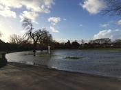 Hylands Park now flooded