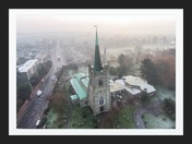Aerial view of St Andrews Church, Hornchurch