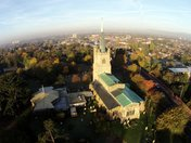 Aerial photos of St Andrews Church taken with an Radio controlled Quadcopter