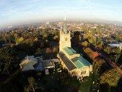 Aerial photos of St Andrews Church
