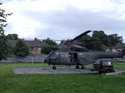 Puma helicopter taking off in ilford
