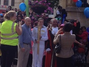 Olympic Torch comes to High Road, Ilford