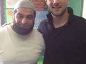 Damon Scully and Rashid Khan from Make Bradford British at Al Noor Primary Schoo