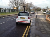 CCTV car on double yellow lines
