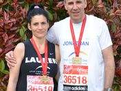 Lauren and Jonathan Barr complete London Marathon 2012