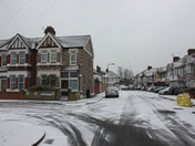 More snow settles in Chadwell Heath