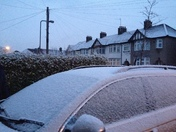 Light dusting of snow in Chadwell Heath