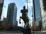 statues in canary wharf