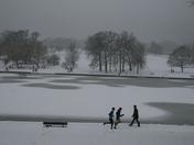 Hampstead Heath snow