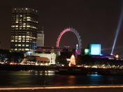 A night scene of the London skyline from Blackfriars Bridge