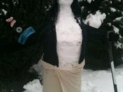 Snow/ufo man