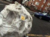 Giant Snowball Gets A Parking Ticket