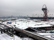 Snow on the Olympic site.