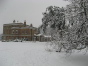 Snow in Valentines Park, Ilford
