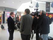 Al Jazeera TV crew films Mr. Clive Dutton