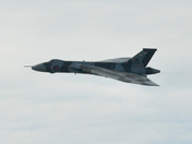Vulcan's last flight over southern England