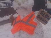 Road safety snowman