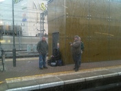 Trainspotters at Stratford Station today
