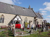 Palm Sunday Procession at St. Peter's Aldborough Hatch