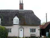 Typically English thatched cottage