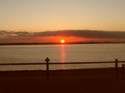 Sunset at Felixstowe Viewing Point