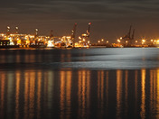 Felixstowe at night