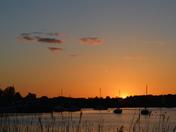 Sunset over Martlesham Creek