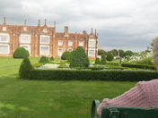Taking in the view at Helmingham Hall