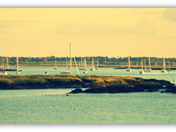 View from  Woodbridge across the River Deben