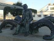 Man on an octopus