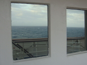 Reflections in windows at sea