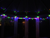 Christmas lights in the conservatory