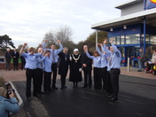 Opening day of Lidl's at Felixstowe