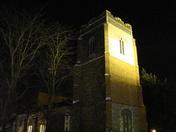 Floodlit Ipswich church